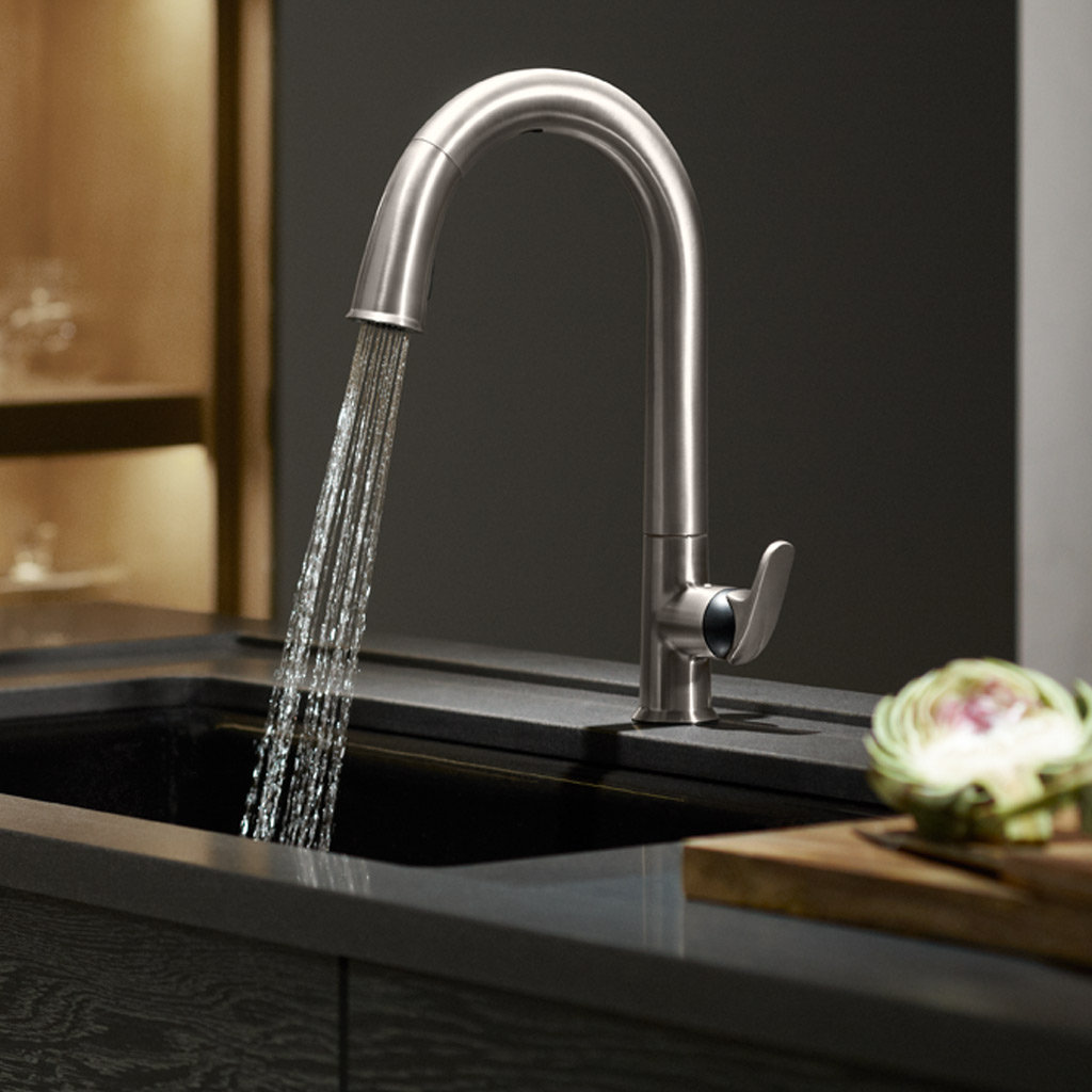 kitchen faucets amp accessories designer s plumbing designer pull down kitchen faucet rotatable