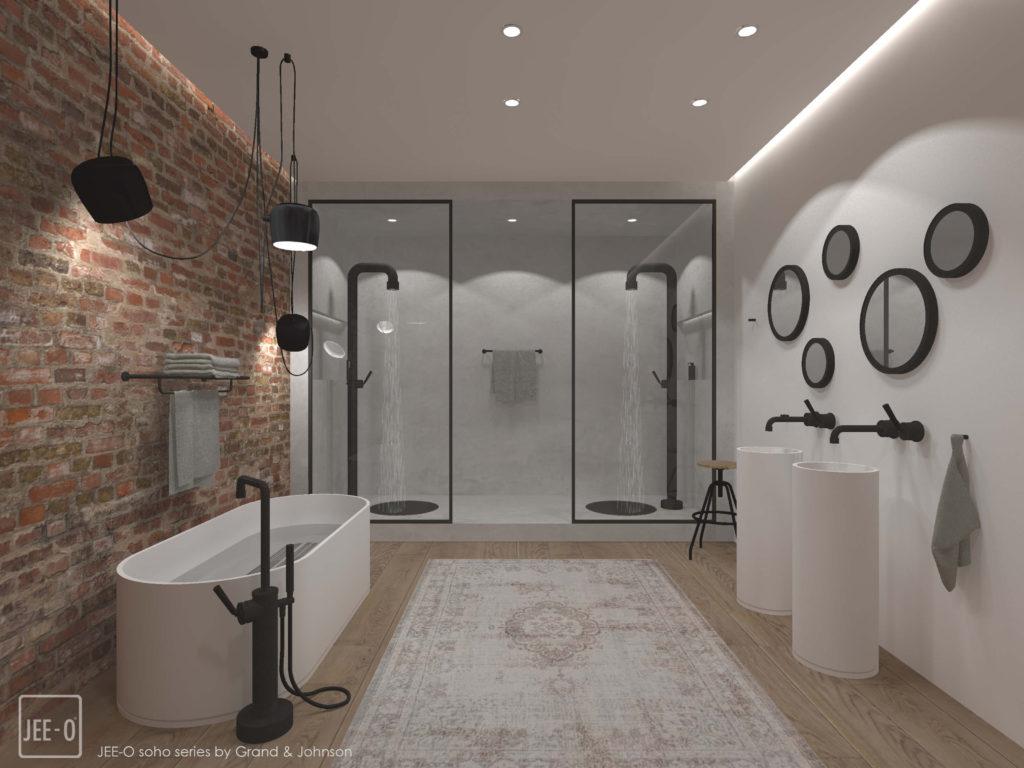 Badkamer ideeen inloopdouche met houten vloer schilderen geweldig